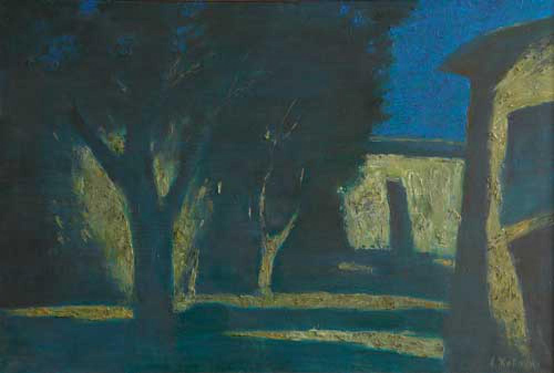 А.Н.Жевакин. Сад ночью. 2007. 81,5х126. Холст, масло. Цена 90 000 руб.