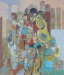 В.С.Горячев. Большой оркестр. 2005. Б., смеш. техника. 59х50.