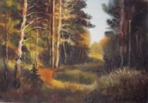 И.Г.Бухаров. В осеннем лесу. 2006. 41x59. Бумага, акварель.