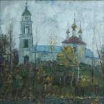 В.К.Золотайкин. Осенний пейзаж . 2007. 55x55. х.м.