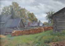 А.В.Городничев. Деревенский пейзаж. 2001. Холст, масло. 50х70.