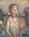 М.Н.Кораблёв. Провинциальный портрет. 1999. 38х46. Бумага, смеш. тех.