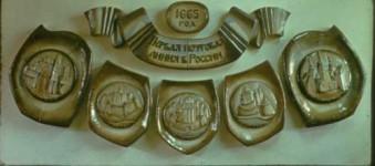 Т.М.Суховеенко. Первая почтовая линия России. 1982. Керамика.