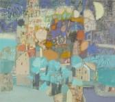 В.С.Горячев. Лунные сады. 2006. Б., смеш. техника. 52х57.