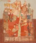 В.С.Горячев. Красный сад. 2006. Б., смеш. техника. 62х53.