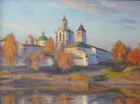 А.В.Городничев. Вечерний свет. 2003. Холст, масло. 54х73.
