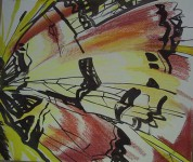 Г.П.Есафьева. Из серии «Крылья» 1. 2007. 60х70. Бум., смеш.техн. 7 000 р.