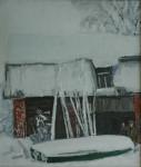 В.К.Золотайкин. Выпал снег. 2007 г. 70x60 х.м.