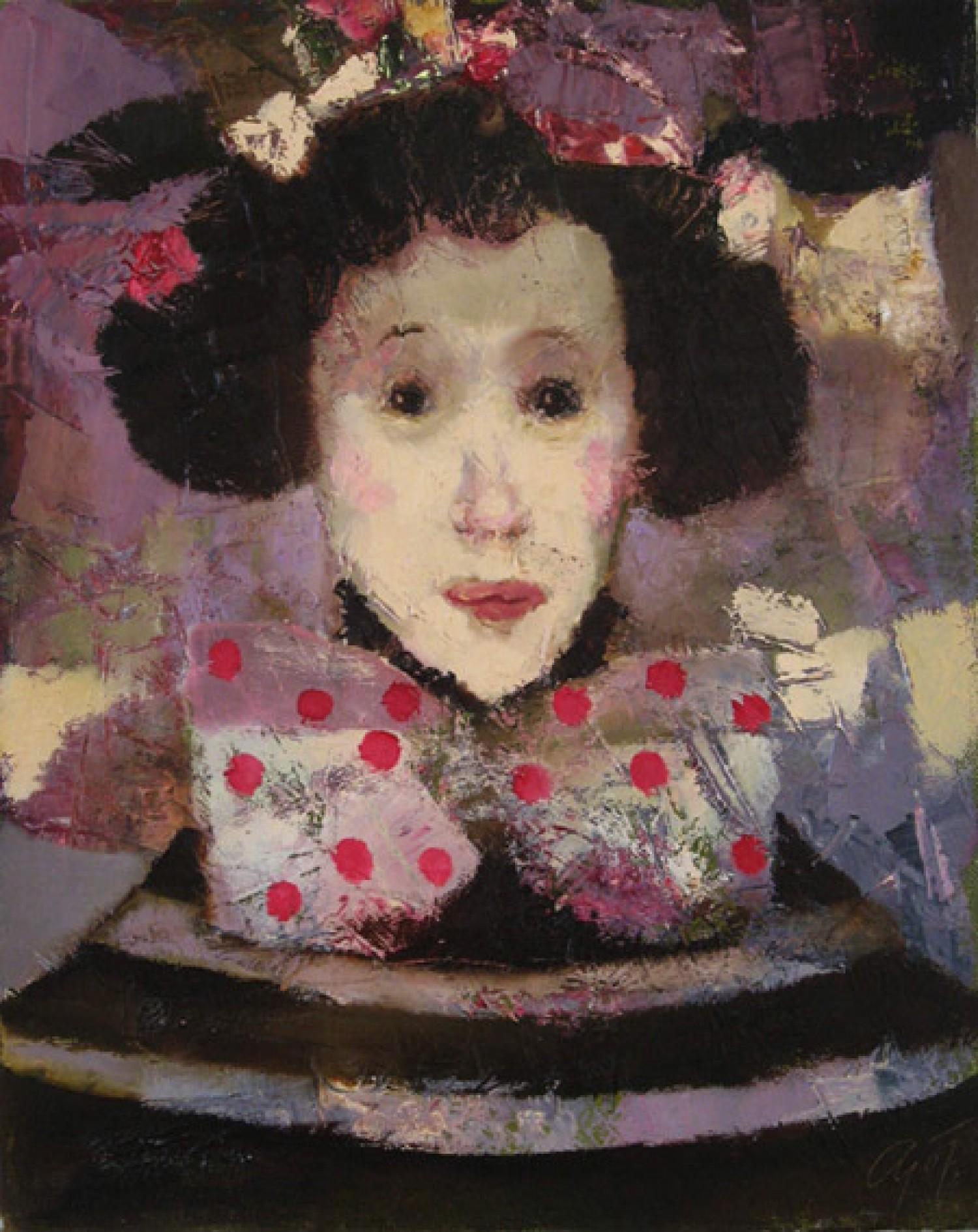 А.Л.Аранышев. Девочка с бантом. 2007 г. 50х40 см. Холст, масло.