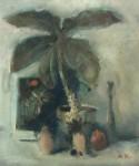 М.Н.Кораблёв. Натюрморт с большим цветком. 1996. 49х40. Бумага, смеш. тех.