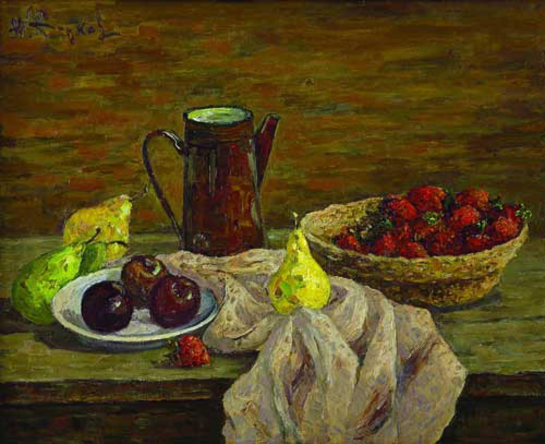 Ю.Д.Жарков. Натюрморт с кофейником. 2007. 70х90. Х.м. Цена - 70 000 руб.