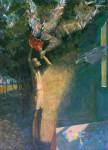 А.Н.Сериков. Игра с цветным миром. 1993. 100х70. Холст, темпера, масло.