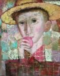 А.Л.Аранышев. Мальчик с яблоком. 2007 г. 50х40 см. Холст, масло.