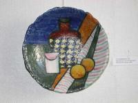 Т.М.Суховеенко. Декоративная тарелка. 2003. Керамика, роспись глазурями.