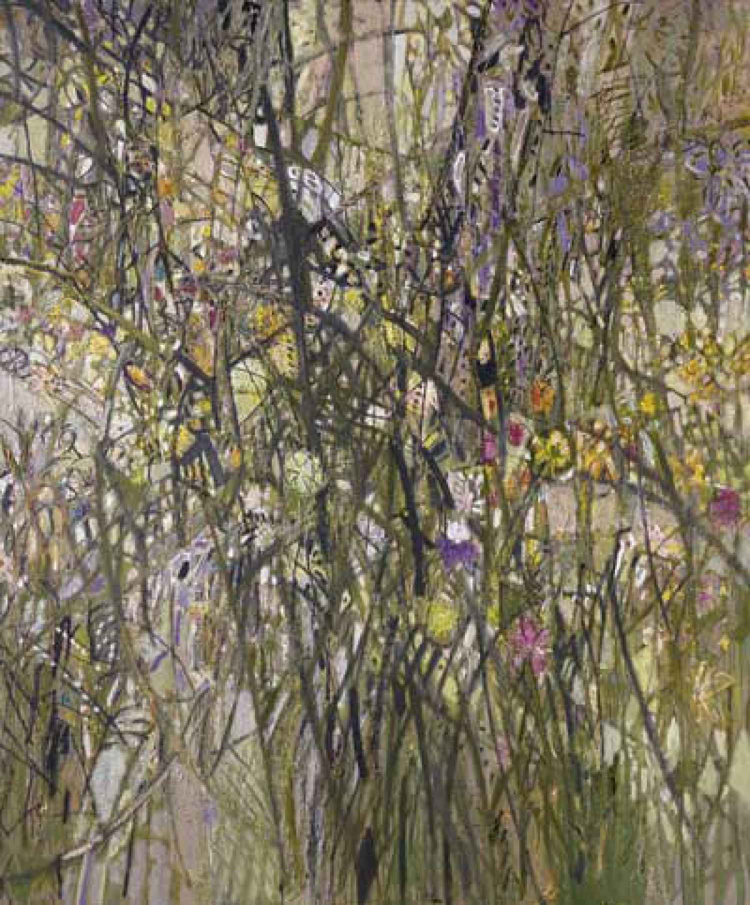 Л.А.Малафеевский. Высокие травы (центральная часть триптиха). 2008. Холст, масло. 180х150.