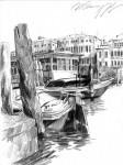 """И.А.Сакуров. Из цикла """"Прогулки по Венеции"""". 2006-2007. 30х20 Бумага, карандаш."""