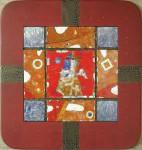 Г.А.Карих. Ангел – хранитель. 2003 г. 32х32. Медь, эмаль.