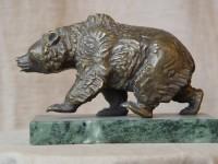 Г.Г.Алексанян. Медведь. 2000 г. Латунь. 13Х8Х20 см.