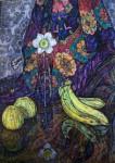 Е.Г.Дарьина. Нарциссы. 1995-96 гг. К.,м. 83х59 см.
