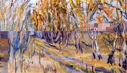 А.С.Александров. Аллея. 1997 г. Холст, масло. 45х80 см.