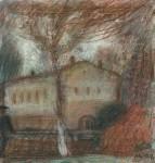 М.Н.Кораблёв. Осень. 2004. 28х26. Бум., смеш.техника.