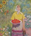 В.А.Ульянов. Клубника. 2004. 80х70 Холст, масло.