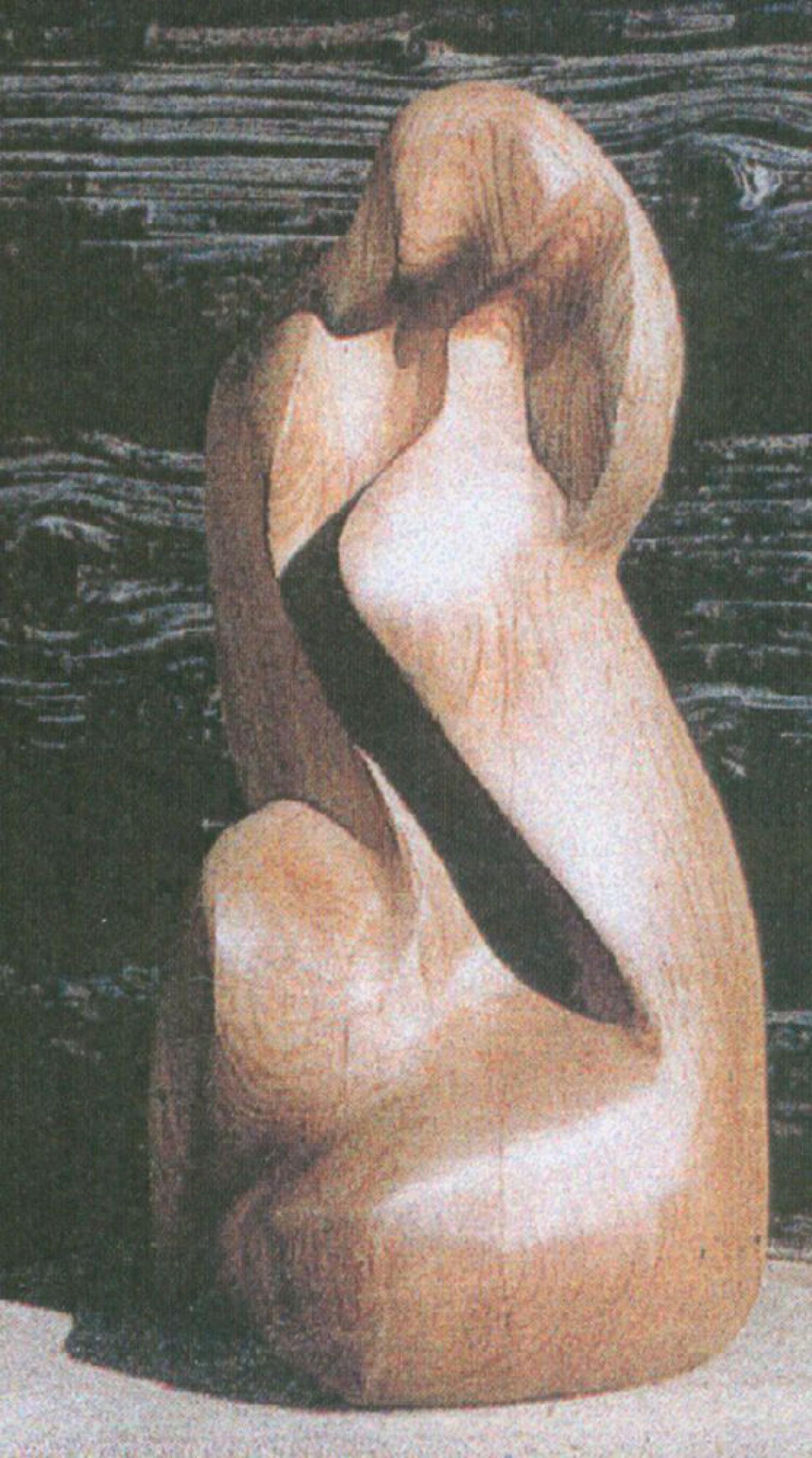 Е.И. Дворникова. Сидячая. 1996. Дуб.
