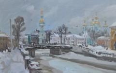 В.А. Епифанов. Крюков канал. Санкт-Петербург. 2010. К., м. 50х70 см.