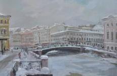 В.А. Епифанов. Зелёный мост. Санкт-Петербург. 2010. К., м. 56х86 см.