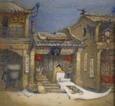 "Е.Вахина. ""Китайский художник"". 2007 г. Бумага, акварель."