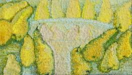 Е.Маркелова. Груши. 40х70 см. шерсть, ручное ткачество. 2005 г.
