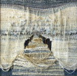 "Е.Маркелова. Триптих ""Серебряное море"" II. 50х50 см. шерсть, ручное ткачество. 2013 г."