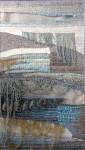 "Е.Маркелова. Триптих ""Серебряное море"" III. 95х50 см. шерсть, ручное ткачество. 2013 г."