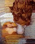 Е.Маркелова. Натюрморт с кувшином. шерсть, ручное ткачество. 103х84 см.. 2004 г..