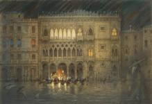 """Е.Вахина """"Дворец Ка-д`Оро. Венеция"""". 2011 г. Бумага, акварель."""