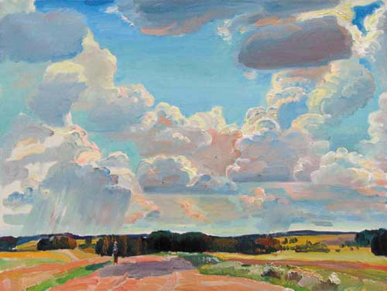 А.А.Карих. Рябовские дали. Над Россией небо синее. 2007. 60х80. Х.м.