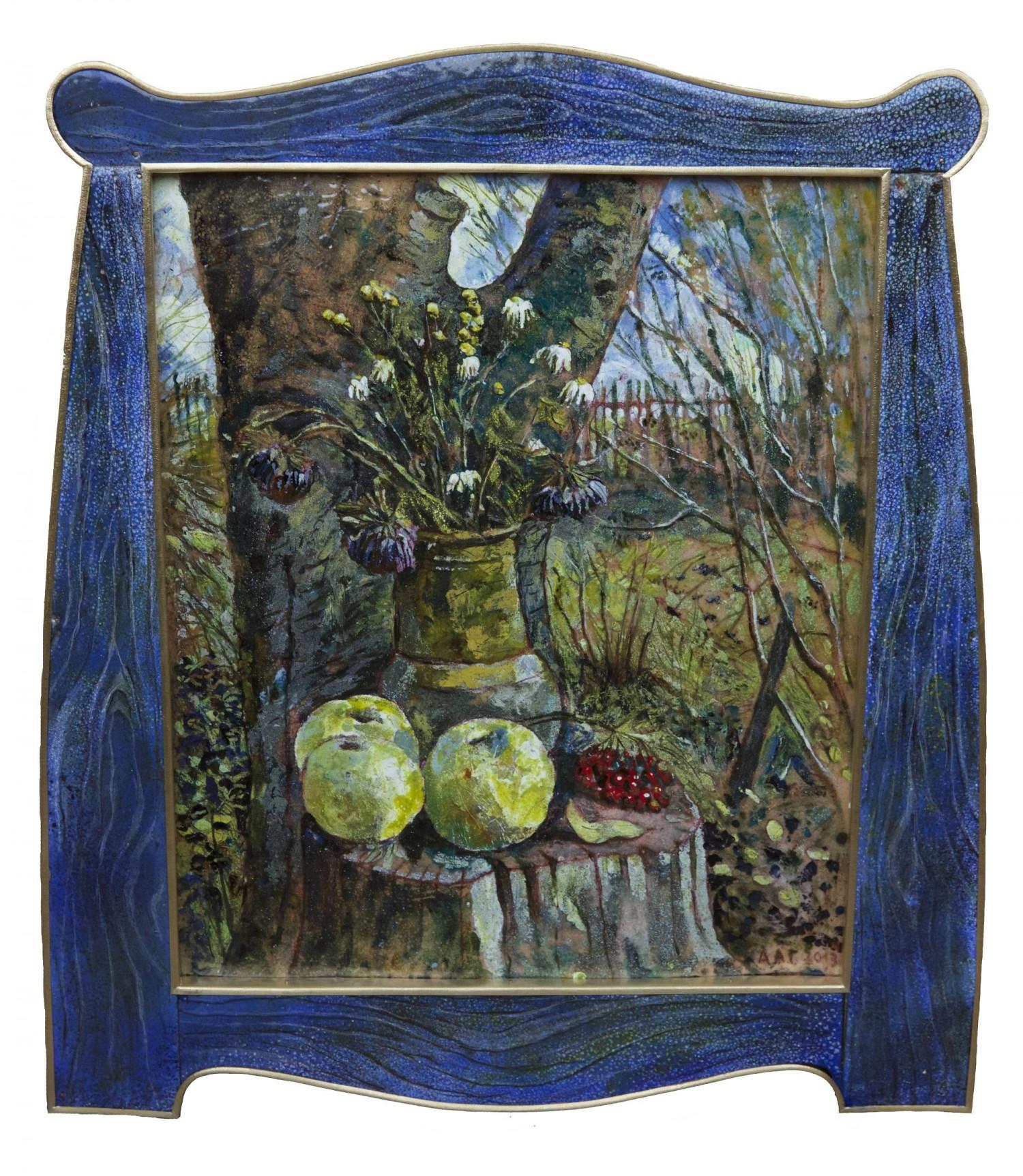 А.Г.Алексеев. Натюрморт у рябины. Село Скнятиново. 2013. 57х51. Коллекция Д.Волкова.