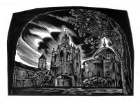 Д.П.Реутов. Спасский монастырь. Из серии «Древний Ярославль». 2003 г.. 8х15.