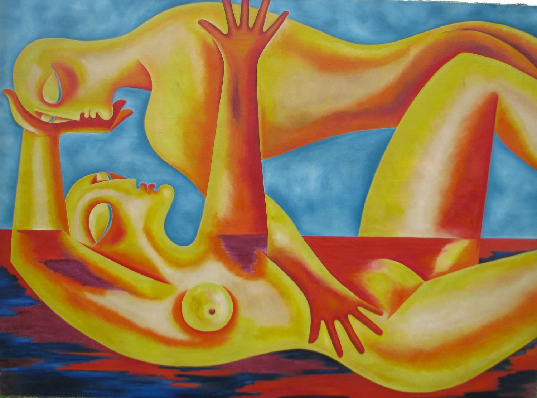 И.Д.Антонова. Погружение в экстаз. 1999. Х.м., 150х200 см.