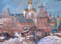 С.С.Арсюта. Башни Ростовского кремля. 2013, х.м, 50х70 см.