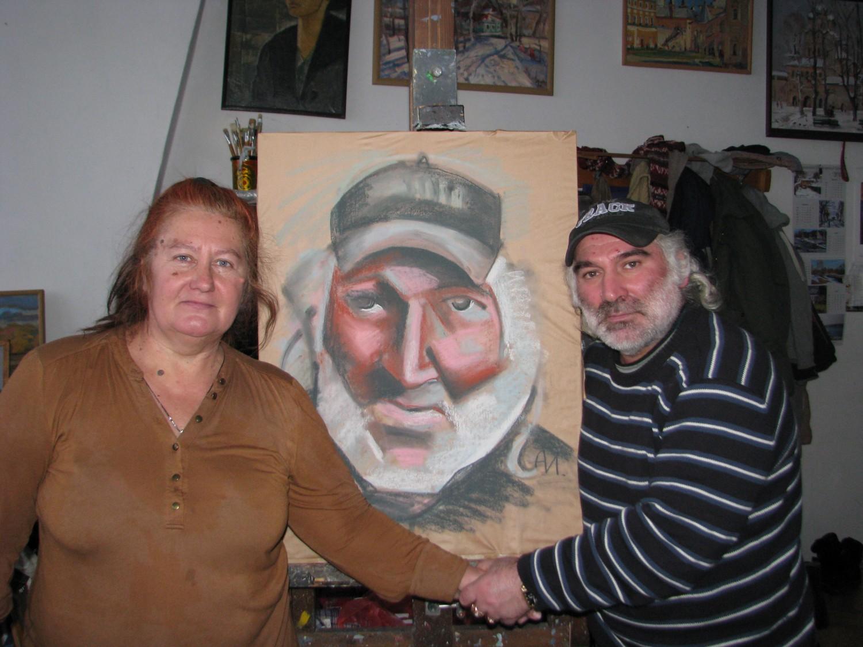 Портрет, художник Инна Антонова и модель