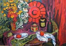 С.С.Арсюта. Красный натюрморт. 2004, х.м., 74х100 см.