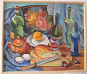 И.Д.Антонова. Натюрморт с хлебом. 2016. Х. м.. 50х60 см.