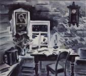 """М.В.Ковалёва. """"В горнице моей светло. Это от ночной звезды..."""" 2012. Акварель. 27х30."""