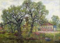 А.В.Ульянов. На реке Сара. 1991. 62х86. к.м.