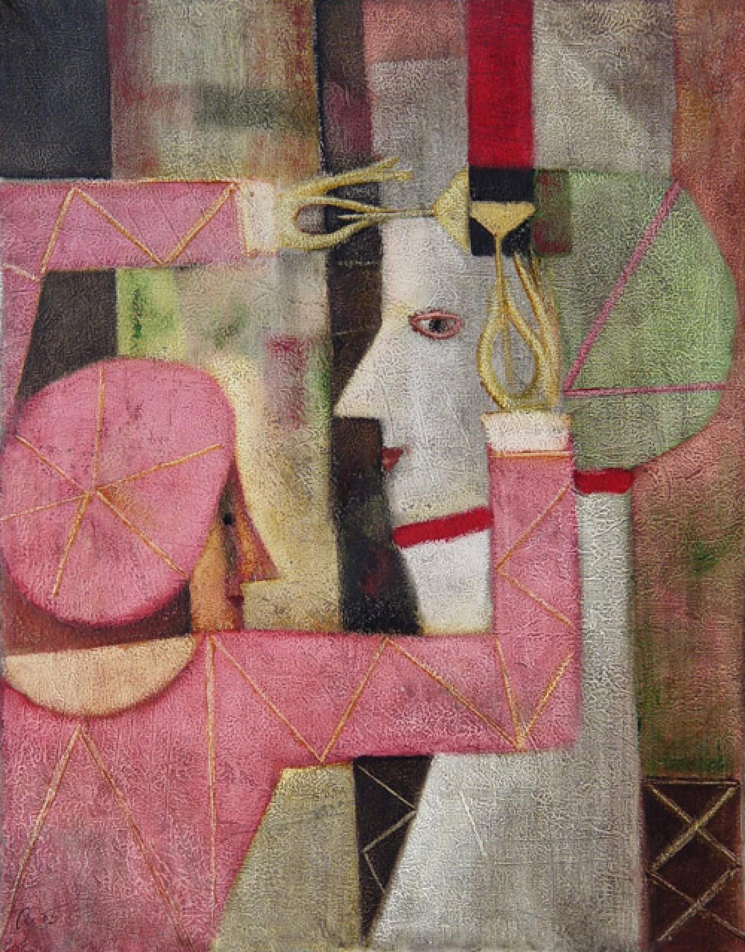 А.Л.Аранышев. Художник. 2005 г. 70х60 см. Холст, масло.