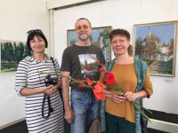 Вернисаж юбилейной выставки Владимира Арискина