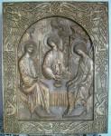 П.В.Алёшин. Святая Троица. Дерево (липа), резьба. 50х60 см.