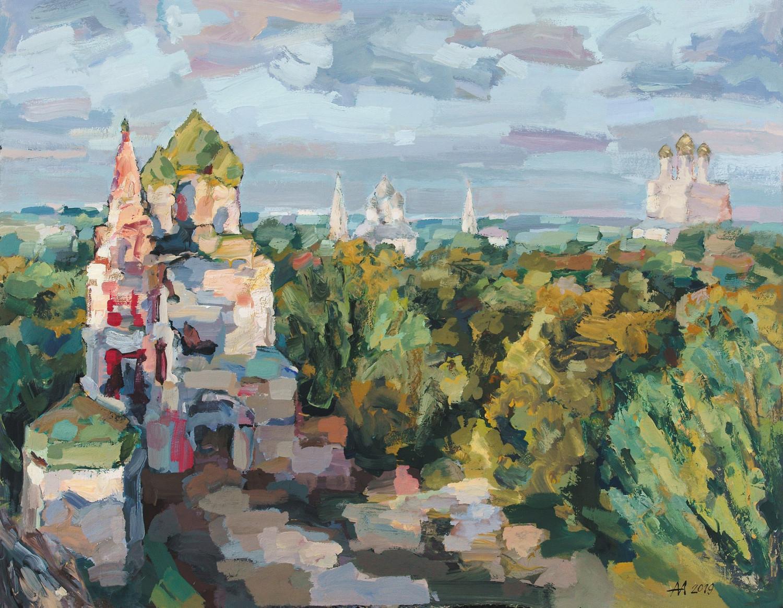 А.С. Александров. Тысячелетний Ярославль. 2019. Оргалит, акрил. 136х170.