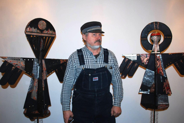 """М.П.Бекетов. Объекты """"Ангелы Малевича"""". Дерево, медь, эмаль. 2014"""